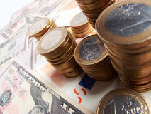 Money on the table royalty free stock photos