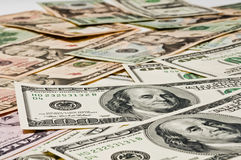 Money on the table, the business concept. Royalty Free Stock Photography
