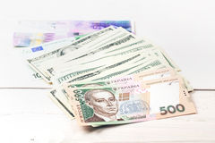 Money on the table Royalty Free Stock Images