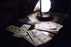 Money. On table Stock Photography
