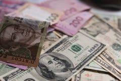 Money. On table Stock Photos