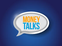 Money talks bubble message illustration design Royalty Free Stock Photography
