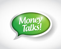 Money talks bubble message illustration design Stock Photography
