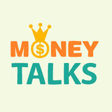 Money talks text Stock Photos