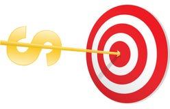 Money target Royalty Free Stock Image