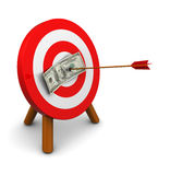 Money target Royalty Free Stock Photos
