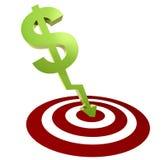 Money target Stock Photography