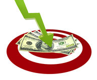 Money target Stock Photography