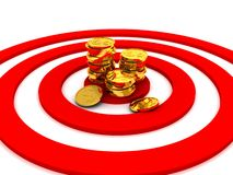 Money target concept illustration Stock Image