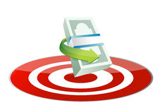 Money target concept illustration Royalty Free Stock Image