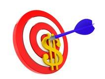 Money target Stock Photo