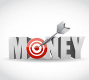 Money target dart illustration design Stock Images