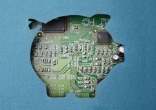Money and technology stock images