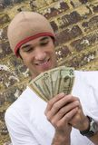 Money Teen. Teen boy money Stock Photography