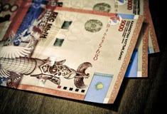 Money tenge of Kazakhstan Royalty Free Stock Photo