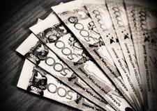 Money tenge of Kazakhstan Stock Photo