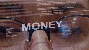 Money text on background of developer stock video footage