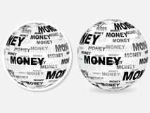 Money text on ball Royalty Free Stock Images