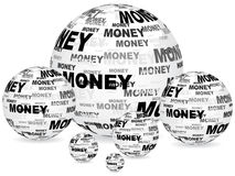 Money text on balls Stock Photo