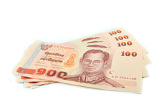 Money thai 100 baht Stock Image