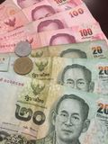 Money of Thailand. King picture on money of Thailand Royalty Free Stock Photos