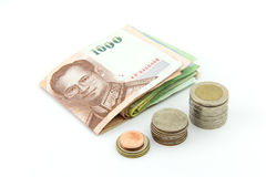 Money thailand. Money of thailand , The unit is THB Royalty Free Stock Photos