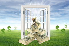 Money throwing Royalty Free Stock Image
