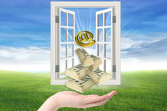 Money throwing Royalty Free Stock Image