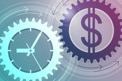 money time принципиальная схема дела успешная Стоковое фото RF