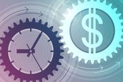 money time принципиальная схема дела успешная Стоковое Фото