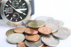 Money and time Royalty Free Stock Photo