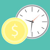 Money and time concept Royalty Free Stock Photo