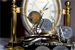 Money is time Stock Photos
