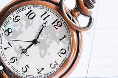 Money, time and globalization concept Stock Image