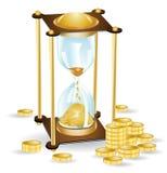 Money Time Sand Clock Stock Photography