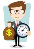 Money is time. Time management Royalty Free Stock Photos