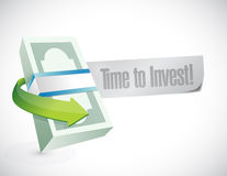 Money time to invest message illustration Stock Photography