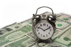 Money time. Time money value, dollar bills Royalty Free Stock Image