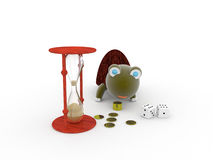 Money, time, wisdom Stock Photography