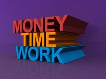 Money, time, work Royalty Free Stock Photo