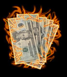 Money to burn Royalty Free Stock Image