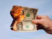 Money To Burn. royalty free stock image