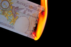 Money To Burn Stock Photography