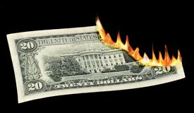 Money to Burn! Stock Photo