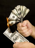 Money to Burn Stock Photography