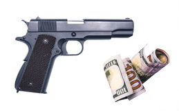 For the money to buy weapons illegally from the mafia Royalty Free Stock Photos