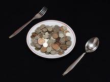 Money to eat Royalty Free Stock Photos