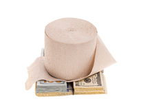 Money and toilet paper Stock Photography