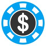 Money Token Flat Icon stock illustration