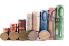 Money tower Stock Image